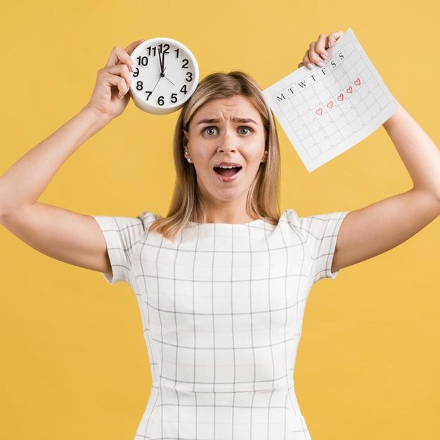 Estrés reloj y calendario