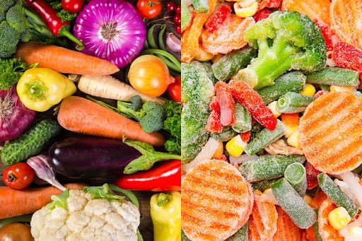 Verduras frescas vs congeladas