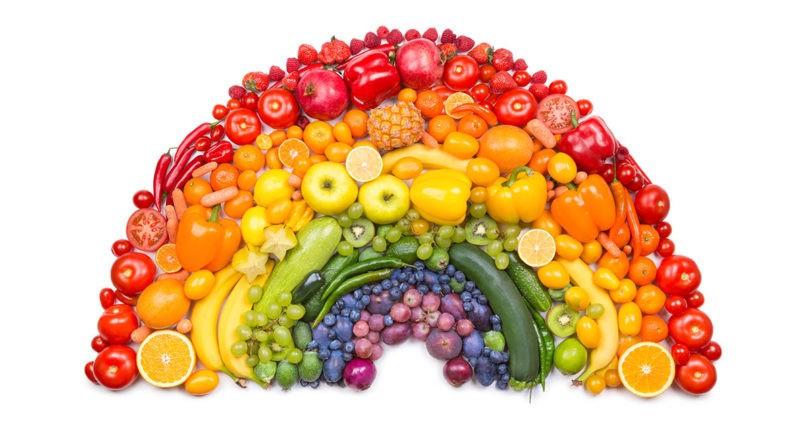 Comer fruta y verdura: el arcoíris de los vegetales